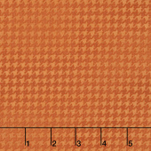 Harvest Berry - Blushed Houndstooth Orange Yardage