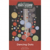 Man Sewing Dancing Dots Quilt Pattern by Rob Appell