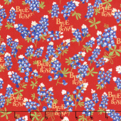 Bluebonnet Patch - Bluebonnet Red Yardage