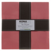 Kona Cotton 2017 Color of the Year - Pink Flamingo Ten Squares
