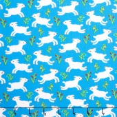 Nursery Rhymes - Lambs Blue Yardage