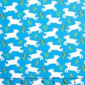 Nursery Rhymes - Lambs Blue Yardage