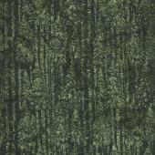 Candy Cane Lane Batiks - Snow Tree Olive Yardage
