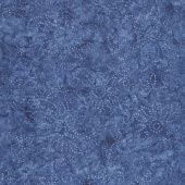 Kaleidoscope Floral Batiks - Medium Blue Yardage