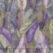 Dragonfly Dance - Purple Gilded Wings Deep Purple Metallic Yardage