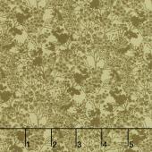 Garden Delights III - Tonal Floral Gold Yardage