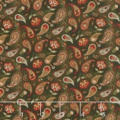 Pumpkin Patch - Country Paisley Green Yardage
