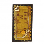 Sew Happy Ruler Pin - Assorted Colors