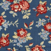 Faded Memories - Faded Main Navy Yardage