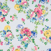 Watercolor Wishes - Bouquet Wishes Light Periwinkle Metallic Yardage