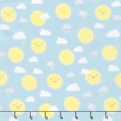 Little Sunshine - Sunshine Turquoise Yardage