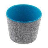 Felt Round Storage Bucket - Turquoise