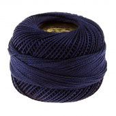 Presencia Perle Cotton Thread Size 8 Very Dark Navy Blue