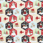 Holly Jolly Christmas - Holiday Honeycomb Multi Yardage