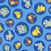 Pokemon - Pokemon Characters Blue Yardage