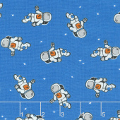 Out of this World - Astronauts Blue Yardage