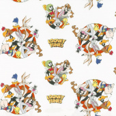 Looney Tunes - That's All Folks! White Yardage