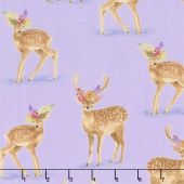 Wanderer's Weekend - Floral Fawns Lilac Yardage