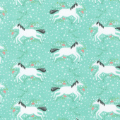 Enchanted - Unicorns Galore Misty Yardage