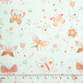 Bunny Tales - Butterfly Blue Yardage