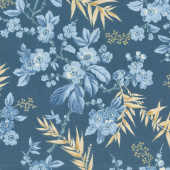 Something Blue - Bouquet Dark Blue Yardage