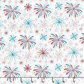 Fireworks & Freedom - Fireworks White Multi Yardage