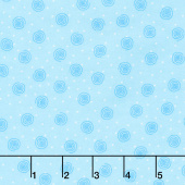 Comfy Flannel® - Swirl Dot Light Blue Yardage