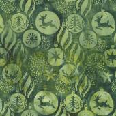 Candy Cane Lane Batiks - Ornaments Fern Yardage