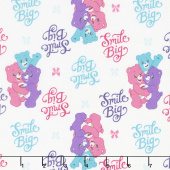 Care Bears - Sparkle & Shine Smiles in White Yardage