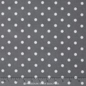 Cozy Cotton Flannels - Medium Dot Grey White Yardage