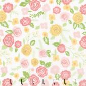 Lollipop Garden - Springtime Blooms Chalk Yardage