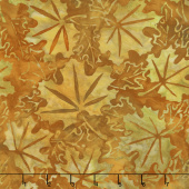 Artisan Batiks - Cornucopia 9 Maple Leaves Pumpkin Yardage
