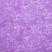 Wilmington Essentials - Amethyst Royale Swirly Scroll Lavender Yardage