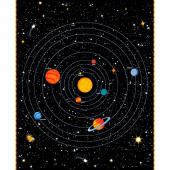 Spacewalk - Solar Chart Black Glow in the Dark Panel