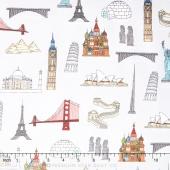 We Share One World - Landmarks Multi Yardage
