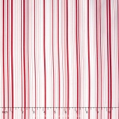 The Forever Collection - Thin Stripe Red Yardage