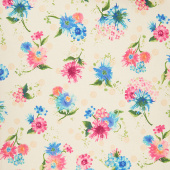 Natural Blooms - Bright Flowers Petal Yardage