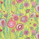 Fantasy - Wild Garden Chartreuse Yardage