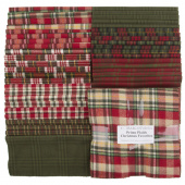 """Primo Plaids Christmas Favorites Yarn Dyed Flannel 10"""" Squares"""