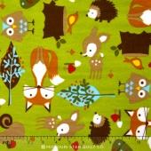 "Cuddle Prints - Forest Tails Kiwi 60"" Minky Yardage"