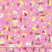 Fairy Garden - Fairy Toss Pink Yardage