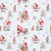 A Magical Christmas - Large Allover Blue Yardage