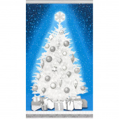 Winter's Grandeur 6 - Evening Christmas Tree Evening Metallic Panel