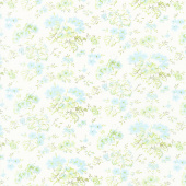 Dover - Field Floral Linen White Yardage