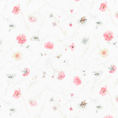 A Country Weekend - Wildflower Toss Ivory Yardage