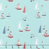Seaside - Boats Aqua Yardage