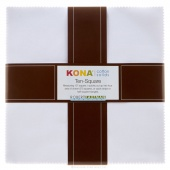 Kona Cotton Solids - White Ten Squares