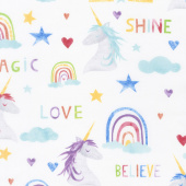 Sparkle Magic Shine - Large Allover White Yardage