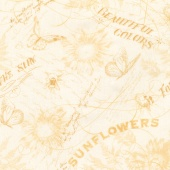 Follow the Sun - Toile Cream/Yellow Yardage