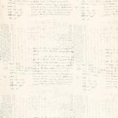 "Modern Background - Text Script Fog 108"" Wide Backing"